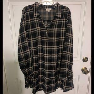 Umgee flowy shirtdress with pockets